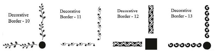 Decorative Borders For Signs Sign Boards And Plaques