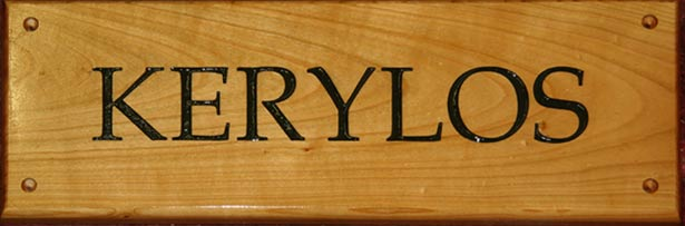 Cherry Wood House Name Signs